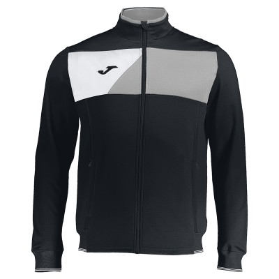 Joma JACKET  CREW II 100614.111 BLACK-WHITE MICRO