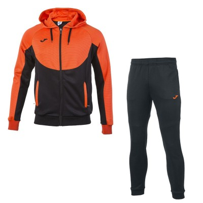 Joma TRACKSUIT HOODIE ESSENTIAL 101019.120 BLACK-ORANGE